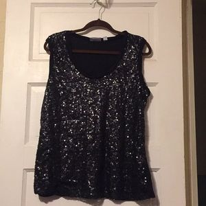 Ny&co tank black sequin XL